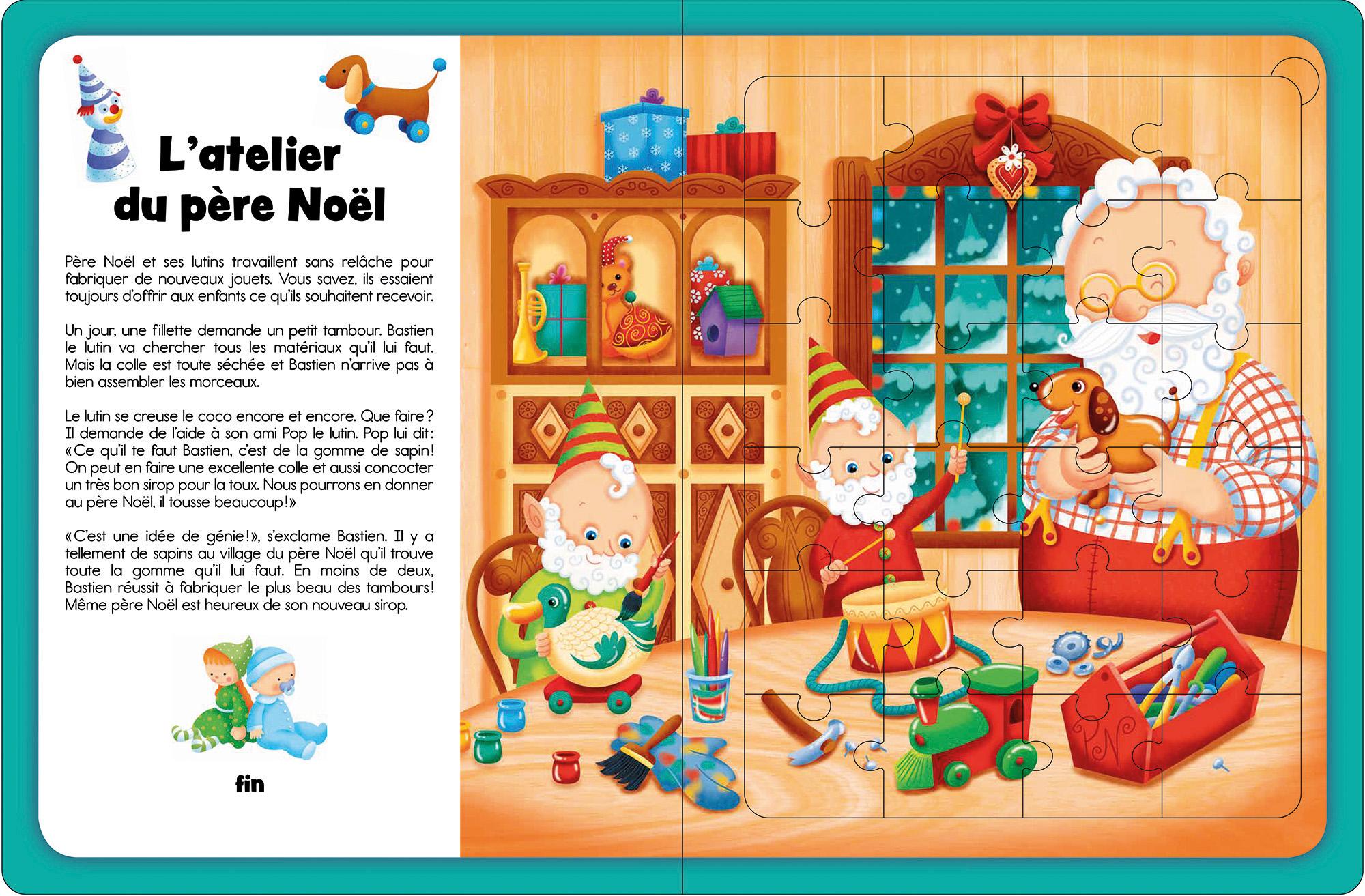 livre casse-tête Mes plus belles histoires d'animaux publié chez Pomango et illustré par Isabelle Charbonneau