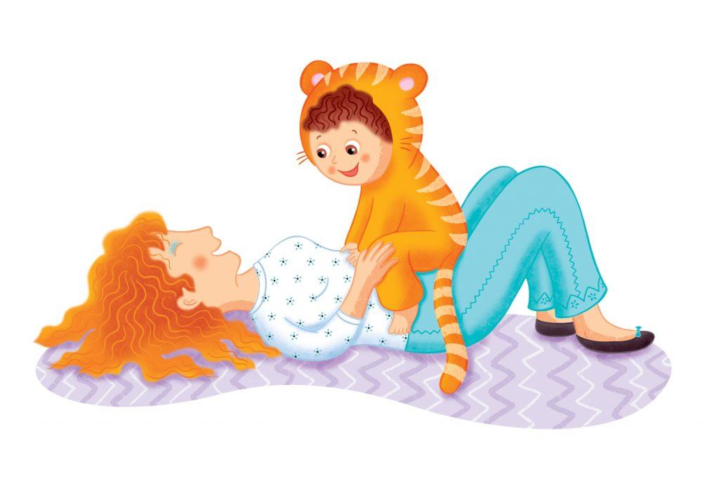 Livre de jeux parent-enfant paru chez Dominique et compagnie et illustré par Isabelle Charbonneau illustratrice