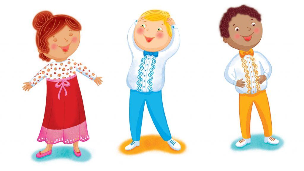 Livre sur le yoga du rire pour enfants, illustré par Isabelle Charbonneau illustratrice et paru chez Dominique et compagnie